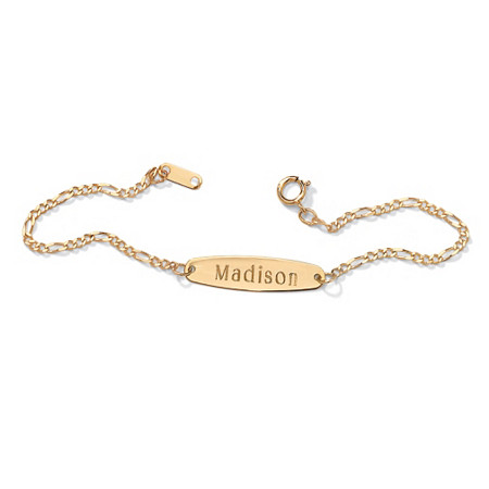 "Child's 10k Yellow Gold Personalized I.D. Name Bracelet 6"" at PalmBeach Jewelry"