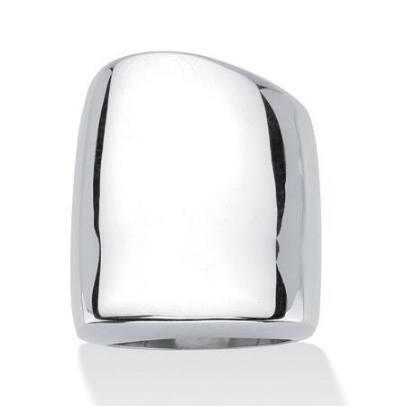 Sterling Silver Free-Form Square Ring at PalmBeach Jewelry