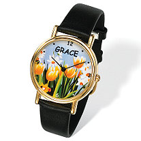 Personalized Flower Watch 7""
