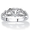 Related Item Diamond Accent Interlocking Hearts Promise Ring in Platinum over Sterling Silver