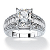 Related Item 4.94 TCW Emerald-Cut Cubic Zirconia Engagement Anniversary Ring in Platinum over Sterling Silver