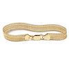 Related Item 18k Gold over Sterling Silver Mesh Bracelet 7 1/4