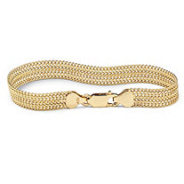 SETA JEWELRY 18k Gold over Sterling Silver Mesh Bracelet 7 1/4