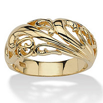 SETA JEWELRY 18k Gold over Sterling Silver Swirl Dome Ring