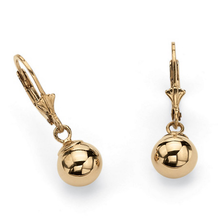 Ball Drop Earrings in 18k Gold over Sterling Silver at PalmBeach Jewelry