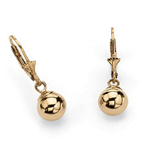 Ball Drop Earrings in 18k Gold over .925 Sterling Silver