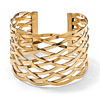 Related Item Lattice Cuff Bracelet in Yellow Gold Tone