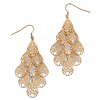 Related Item Filigree Chandelier Earrings in Yellow Gold Tone