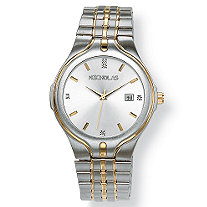 SETA JEWELRY Men's Two-Tone Personalized Watch with Crystal Accents in Stainless Steel 8