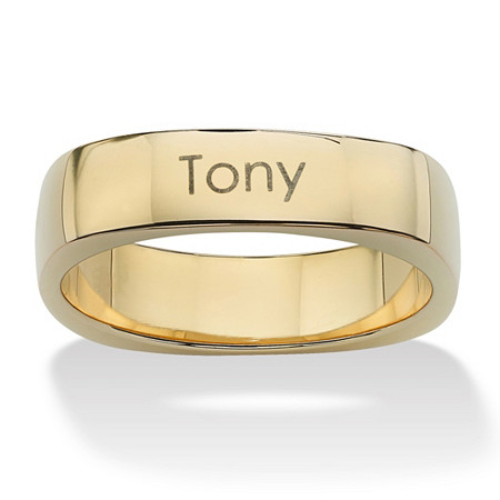 "Personalized ""Keepsake"" Ring in 18k Gold over Sterling Silver Sizes 6-16 at PalmBeach Jewelry"