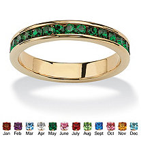 SETA JEWELRY Birthstone Stackable Eternity Band in 14k Gold-Plated