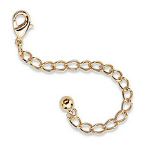 14k Yellow Gold Tone Cable-Chain Extender 3""