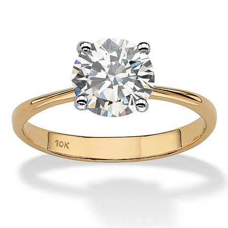 2.50-Carat Round Genuine Topaz 10k Yellow Gold Solitaire Bridal Engagement Ring at PalmBeach Jewelry