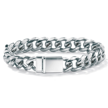 Men's Curb-Link Chain Bracelet in Stainless Steel 8