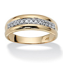 SETA JEWELRY Men's 1/5 TCW Round Diamond Wedding Band in 10k Gold
