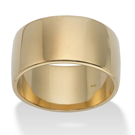 Wedding Band in 18k Gold over .925 Sterling Silver at PalmBeach Jewelry