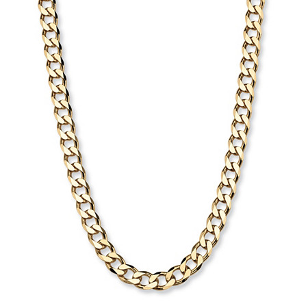 "Curb-Link Chain in 18k Gold over Sterling Silver 22"" (6mm) at PalmBeach Jewelry"