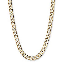 Curb-Link Chain in 18k Gold over Sterling Silver 22