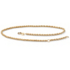 Related Item 10k Yellow Gold Tailored Rope Ankle Bracelet Adjustable 9