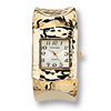Related Item Hammered-Style Cuff Watch in Yellow Gold Tone