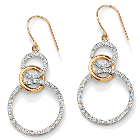 Diamond Accent 14k Gold Diamond Fascination Eternity Drop Earrings at PalmBeach Jewelry