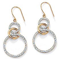 Diamond Accent 14k Gold Diamond Fascination Eternity Drop Earrings