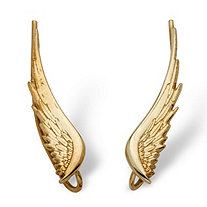 10k Yellow Gold Angel Wing Ear Pins