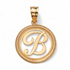 Related Item 14k Yellow Gold Personalized Script Initial Pendant