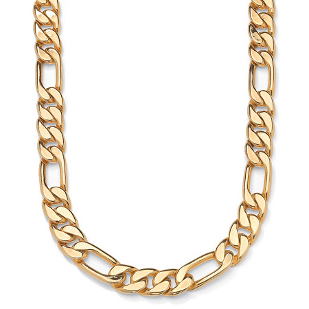 "Figaro-Link Necklace in Yellow Gold Tone 24"" (9mm) at PalmBeach Jewelry"
