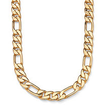 "Figaro-Link Necklace in Yellow Gold Tone 24"" (9mm)"