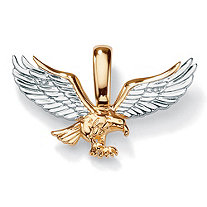 SETA JEWELRY Men's Diamond Accent Two-Tone 10k Gold  Golden Eagle Pendant