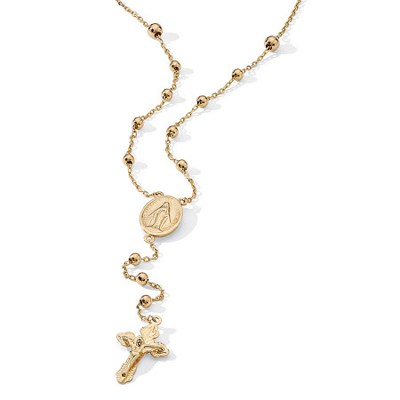 Rosary Style Necklace in 18k Gold over Sterling Silver at PalmBeach Jewelry