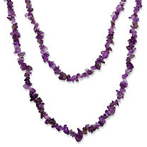 Nugget-Cut Genuine Purple Amethyst Necklace 54