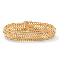 Saduza-Link Bracelet in 18k Gold over Sterling Silver 7 1/4""
