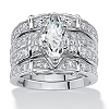 Related Item 3.05 TCW Marquise-Cut Cubic Zirconia Three-Piece Bridal Set in Sterling Silver