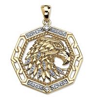 Men's Diamond Accented Eagle Pendant