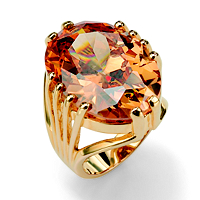 Oval Cut Champagne-Color Cubic Zirconia ONLY $37.99