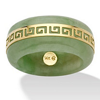 SETA JEWELRY Genuine Green Jade 14k Yellow Gold