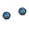 Related Item Round Birthstone Stud Earrings in Sterling Silver