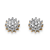 Related Item Diamond Accent Starburst Stud Earrings in Solid 10k Yellow Gold
