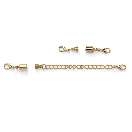 Magnetic Clasp and Chain Extender Set in Yellow Gold Tone at PalmBeach Jewelry