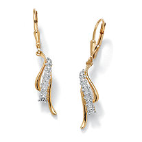 SETA JEWELRY Diamond Accent Waterfall Drop Earrings in 18k Gold over Sterling Silver