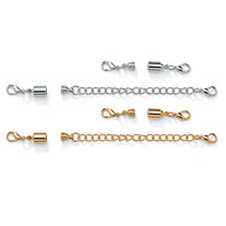 Magnetic Clasp and Chain Extender Set in Yellow Gold Tone and Silvertone