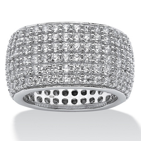 3.00 TCW Pave Cubic Zirconia Multi-Row Eternity Band in Sterling Silver at PalmBeach Jewelry