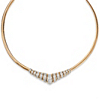 Related Item 1/10 TCW Diamond Chevron and Snake-Link Necklace in 18k Gold over .925 Sterling Silver 20