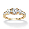 Related Item Round Cubic Zirconia Engagement Anniversary Ring 1.89 TCW in Solid 10k Gold
