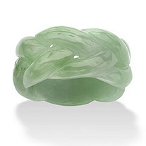 SETA JEWELRY Genuine Green Jade Braided Eternity Ring