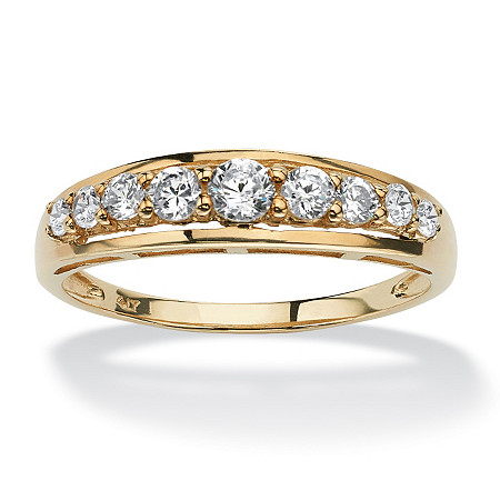 .93 TCW Round Cubic Zirconia Ring in Solid 10k Gold at PalmBeach Jewelry