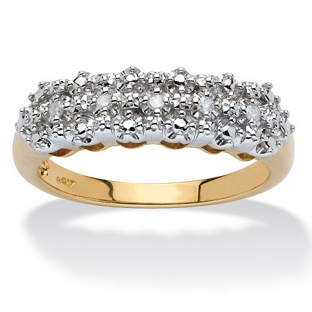 Diamond Accent Cluster Ring in 10k Yellow Gold at PalmBeach Jewelry