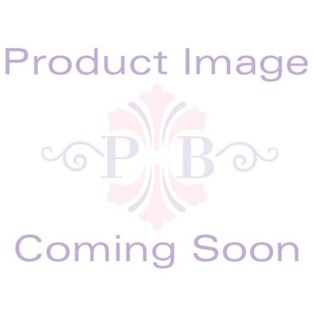 Round Birthstone Silvertone Tennis Bracelet 7